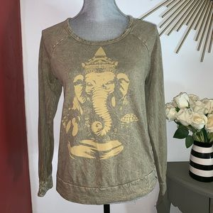 Truly Madly Deeply Woman's green elephant sweater.